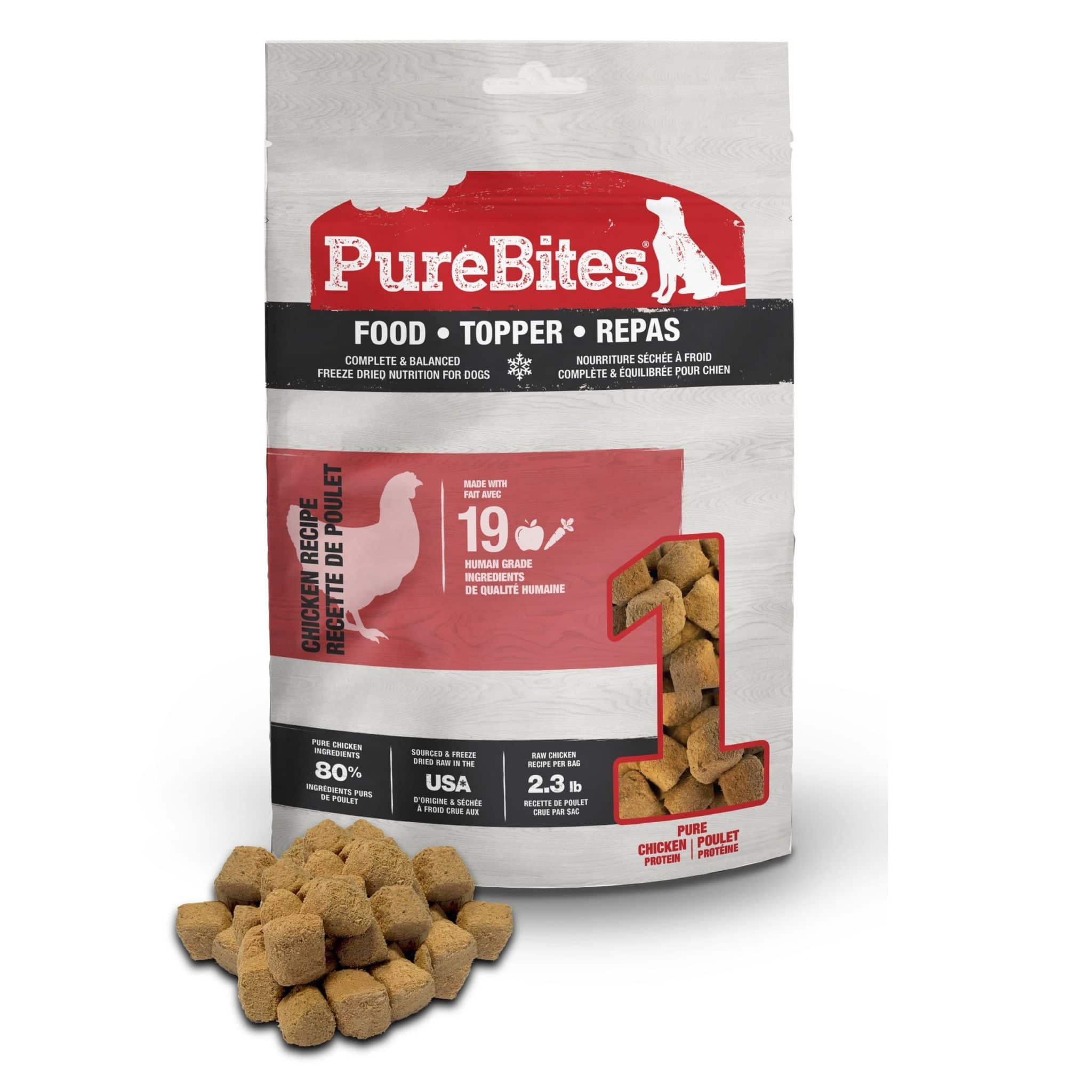 Front Shot Bag With Pile Food Topper Freeze Dried Chicken Recipe For Dogs